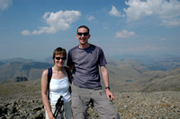 Us, on the summit of Scafell Pike.