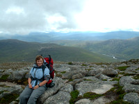 After 'THE WORST CAMP EVER', we climbed up Carn a' Mhaim. Time for a rest before the summit though.