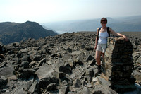 Jen on the Summit of Scafell pike on her birthday